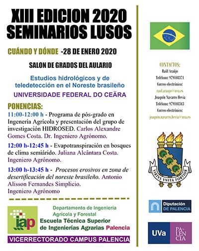 XIII EDICIÓN 2020 'SEMINARIOS LUSOS'