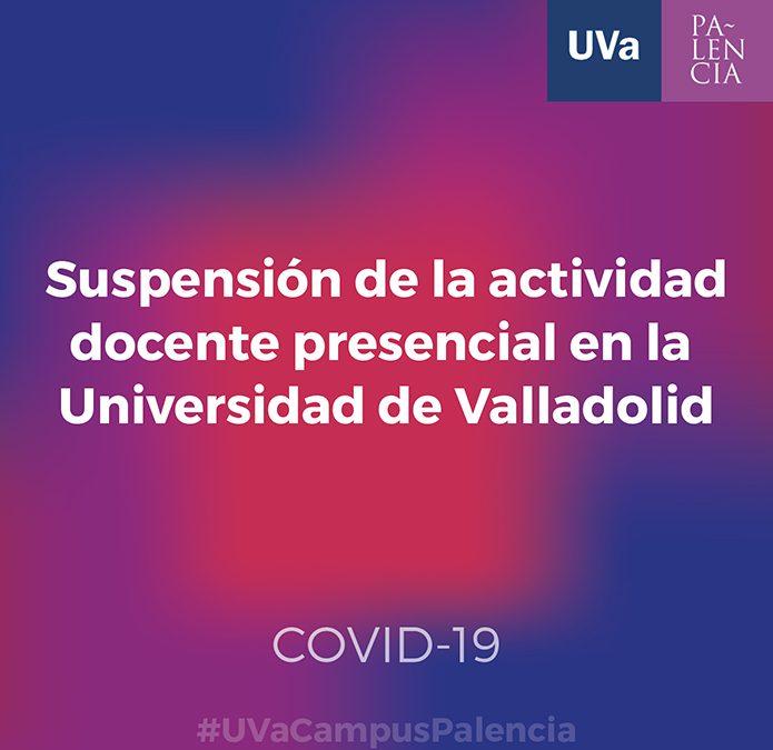 Suspensión de la actividad docente presencial a partir de mañana viernes por la crisis del coronavirus.