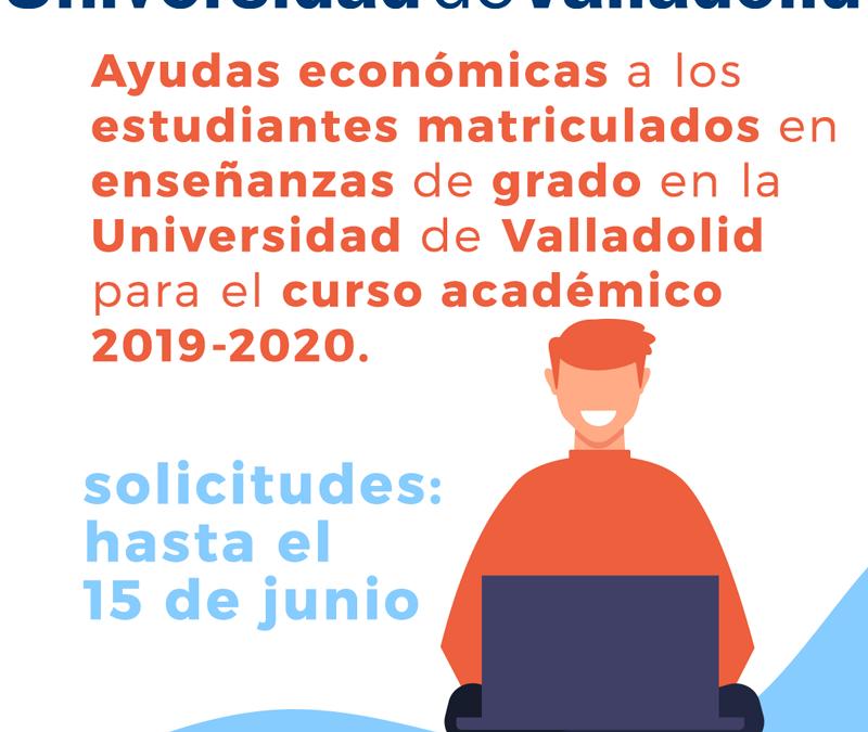 La Universidad de Valladolid convoca las ayudas económicas para los estudiantes que cursan un grado en la UVa