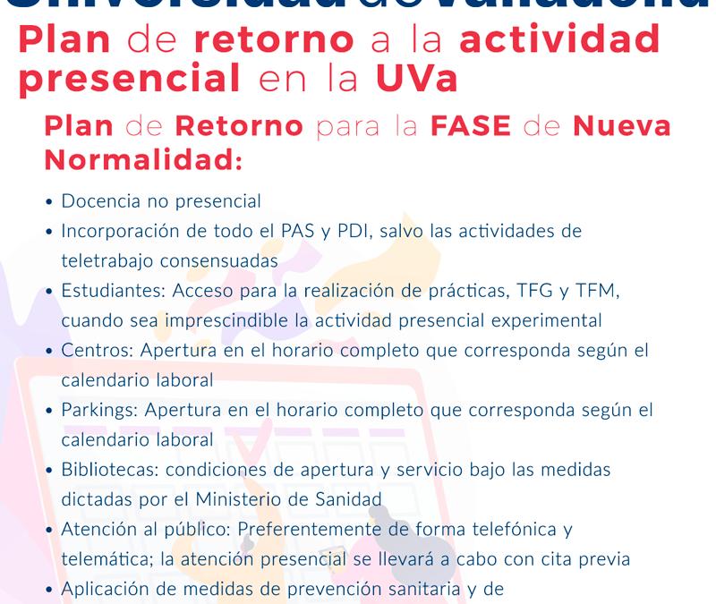 Los cuatro campus de la Universidad de Valladolid entran en la Fase de la Nueva Normalidad