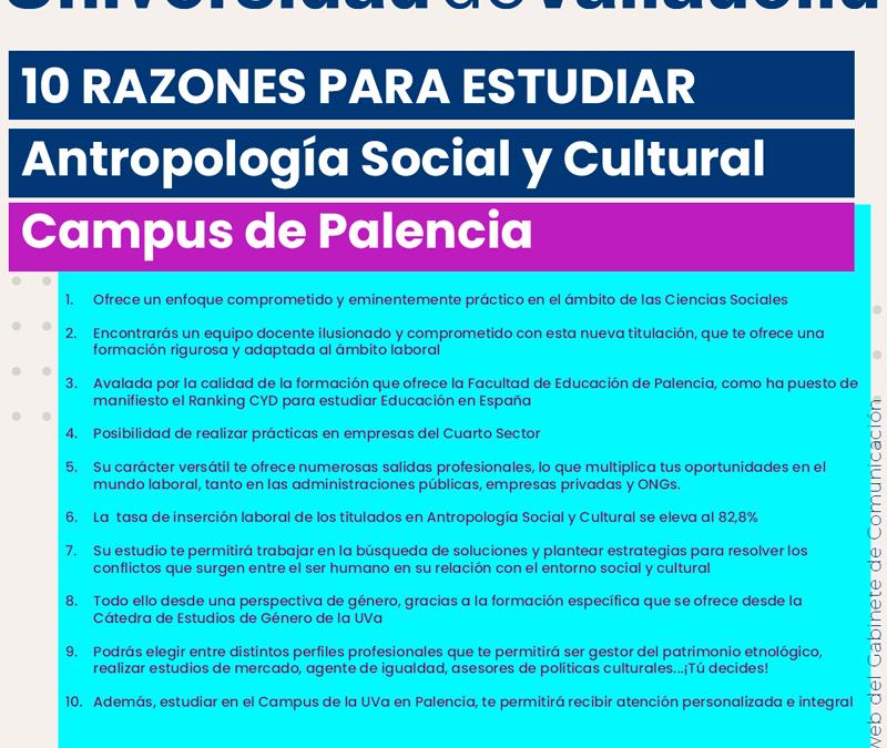 10 razones para matricularte en la nueva titulación 'Antropología Social y Cultural'