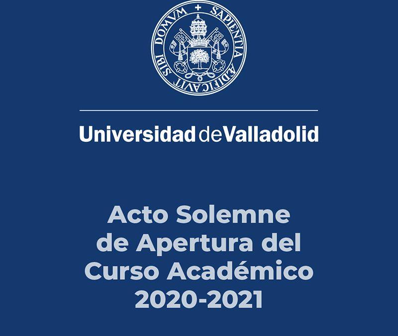 Acto Solemne de Apertura del Curso Académico 2020-2021 UVa